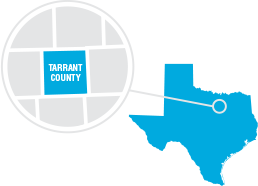Map of Tarrant County Texas